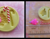 Cabochon Mold Christmas Tree Candy Cane Resin Polymer Clay Fondant Mold