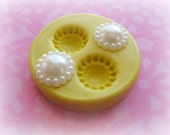 Round Pearl Mold DIY Polymer Clay or Fondant Mold Resin and DIY Crafts Moulds