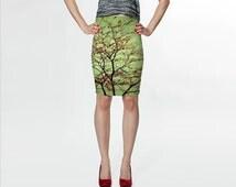 Women's Art Fitted Skirt Modern Fall fine art photography Fashion