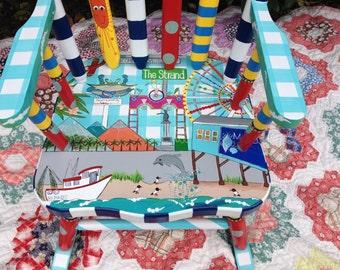 Kids' Furniture Personalized Your City Local Landmarks Rocker for Kids' Rocking Chair Galveston Any City Landmarks Rocker