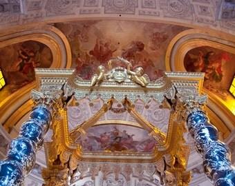 Napoleons Tomb Cuppola - Paris Photography, Victorian Wall Art, Prayer, France, Paris, Gothic Decor, Romantic Pink and Gold, Parisian Decor