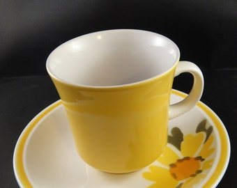 Mikasa Cera Stone Flora Cup and Saucer