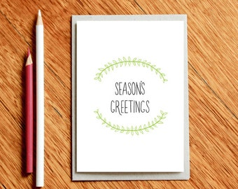 Christmas Card, Christmas Cards, Seasons Greeting's, Card For Her, Card For Him, Holiday Card, Xmas Gift, Teacher Xmas Gift, Teacher Card