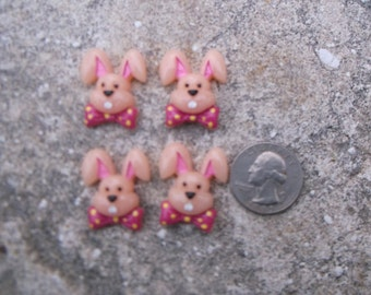 Bunny Rabbit Flatback Cabochon - Set of 4