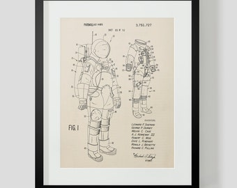 Space Suit Astronaut Patent Art Print