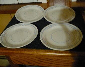 Corelle - 6 Needlepoint Salad Plates - 7 1/4 - Sandstone,Beige
