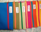 Zipper Pouches  SIX in a Variety of Colors for Cash Envelope System Dave Ramsey/Choose Your Colors