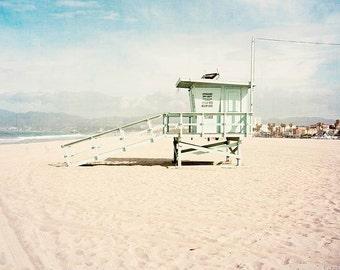 California Wall Art, Beach Photography, Venice Beach, Lifeguard Tower, Large Wall Art, Beach Decor, Beach Art Coastal Wall Art, Los Angeles