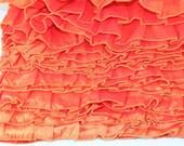 Ruffle Trim 10 yards Orange Taffeta Trim 2 1/2 inches wide Destash Apron Sewing Supply Old New Stock