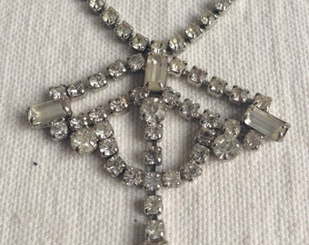 Vintage costume jewelry  art deco stule necklace  holiday necklace
