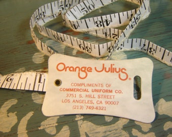 60 Inch Complimentary Tape Measure from Orange Julius ~ Commercial Uniform Co. ~ Los Angeles