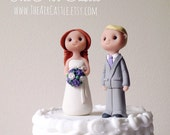 Custom people wedding cake topper handmade