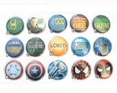 Superhero Buttons or Magnets 1-inch