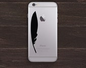 Feather Vinyl iPhone Decal BAS-0279