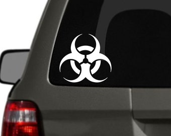 Biohazard Logo Vinyl Car Decal BAS-0114