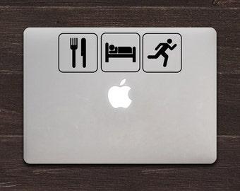Eat Sleep Run Vinyl MacBook Decal BAS-0137