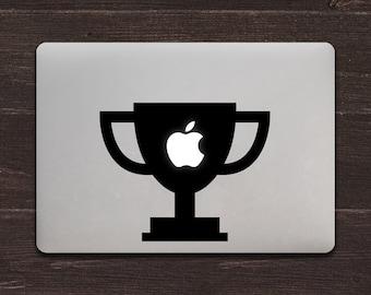 Trophy Apple Vinyl MacBook Decal BAS-0239