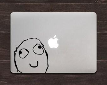 Smile Meme Vinyl MacBook Decal BAS-0256