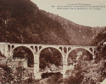 Vintage French Postcard - Aveyron, France