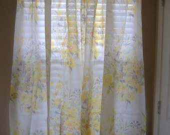 SALE Two Panels of Vintage Draperies