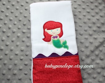 Boutique Style Baby Burp Cloth - Ariel