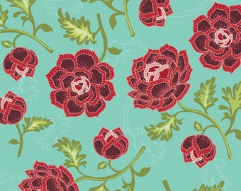 La Vie Boheme Main in Teal by The Quilted Fish - Half Yard
