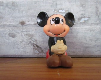 Vintage Plastic Mickey Mouse Coin Bank Made in Korea