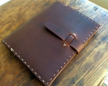 Ralph Composition Book, handmade leather notebook, composition book cover, business notebook hand sewn brown bridle leather by Aixa Sobin