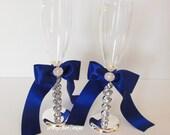 Wedding Champagne Flutes, Toasting Glasses - custom made set of 2