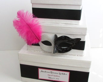 Card Box Masquerade Sweet 16 Quinceanera Money Holder Custom Made
