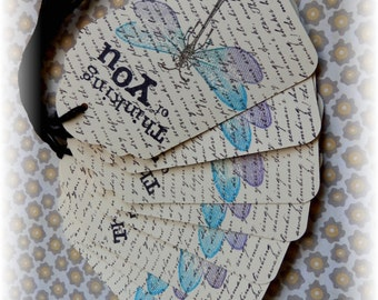 Thinking of You Tags - Dragon Fly - Script - Gift/Hang Tags (8)