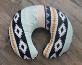 boppy  cover, Aztec boppy cover, horizon cover with hidden invisible zipper