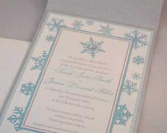 Printable PDF Winter Wedding Invitations for the DIY Bride