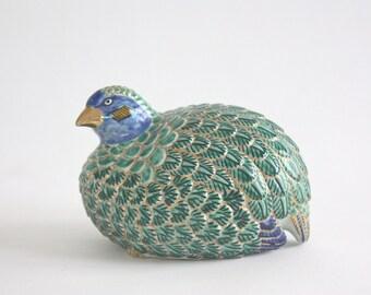 Vintage Porcelain Quail Bird