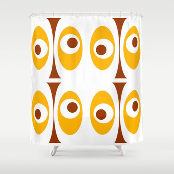... Shower Curtain,Mod Shower Curtain,Retro Shower Curtain,Funky Shower