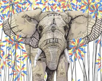 Elephant // A5 print 5x8