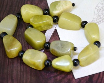 """Nugget Old Jade Candy Jade Strand 15""""  25mmx16mm Jade Full One Strand For your handmade Jewelry"""