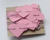 Pink Heart Garland, Banner for Valentines Day, Wedding Decor, Pink Love Themed Party Decor, Die Cut Heart Garland, Pink Bunting