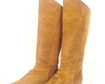 SALE!! Savida Butternut Suede Boots Sz 7.5B, Great Condition!