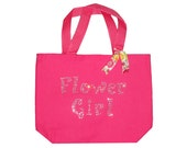 FLOWER GIRL personalized rhinestone tote gift bag