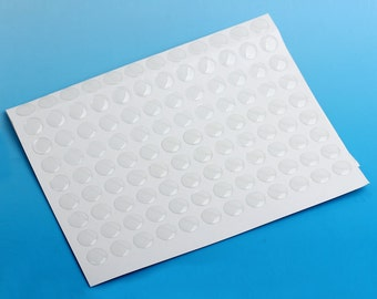 10 or 50 or 100 or 275 Circle Clear Round Epoxy Resin Stickers - 10mm (0.4 in)