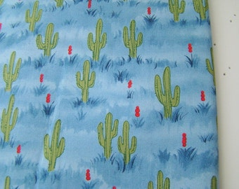 The Udder Cowboy Fabric for Moda Fabrics, Cute Cactus Fabric OOP