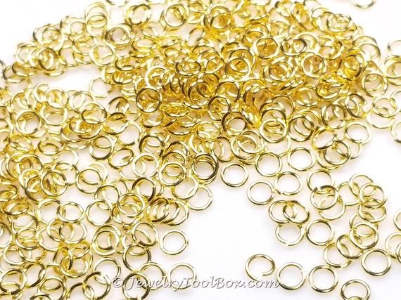 Anillas oro latón acabado oro 5 mm x 08 mm 20 por JewelryToolBox