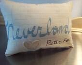 Neverland throw pillow, Tween gift, Peter Pan pillow, cotton canvas, Neverland nursery decor, baby room decor, kid pillows, chic home decor