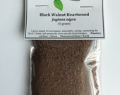Black Walnut heartwood powder - Useful for works of darker magick including summoning, necromancy, and cursing