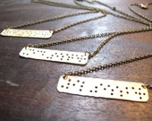 """3 Sisters Braille Necklaces // Braille Inspired """"SISTER"""" Necklace // Sister Necklace // Family // Braille // Big Sister Little Sister"""