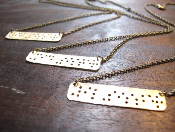 "3 Sisters Braille Necklaces // Braille Inspired ""SISTER"" Necklace // Sister Necklace // Family // Braille // Big Sister Little Sister"