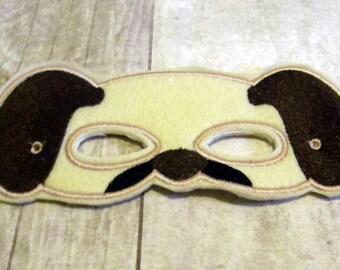 Felt Puppy Mask, Dog Mask, Animal Mask, Machine Stitched, Pretend Play Mask, Child Mask