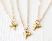 Tiny Modern Gold Shark Tooth Necklace // simple minimalist everyday dainty jewelry