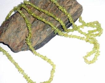 Peridot Long Chip Necklace earthegy